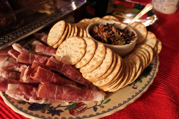 Crackers and Prosciutto