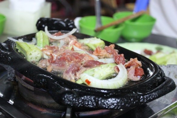 Meat hot plate