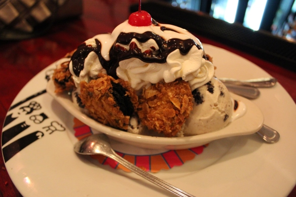 Deep Fried Oreo Sundae
